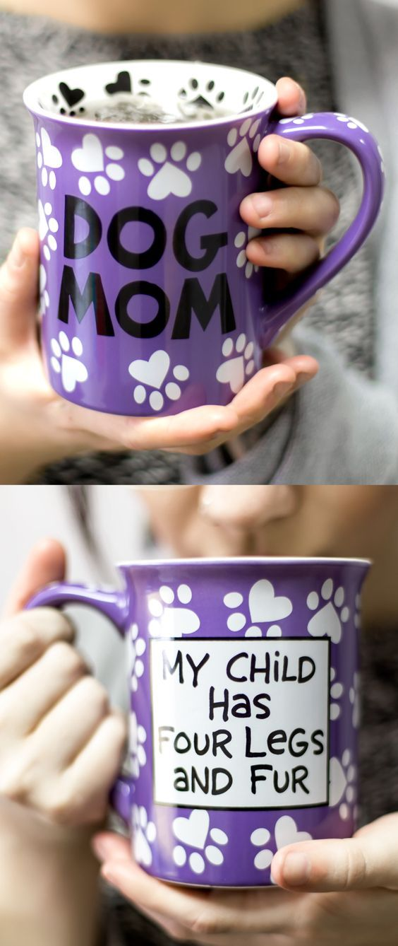 Designed by New York potter Lorrie Veasey, our Dog Mom Mug is a must-have for the proud doggie mama in all of us. Christmas Gift Idea
