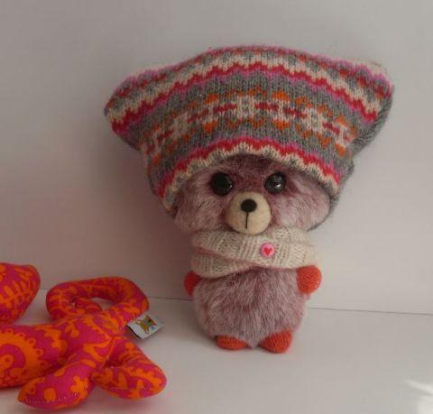 Mitzi: Nagyfejű műszőrme #maci, szatmarynora, meska.hu #bear #toy