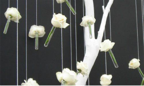 Flower mobile with test tube vases dyi crafts pinterest for Test tubes for crafts