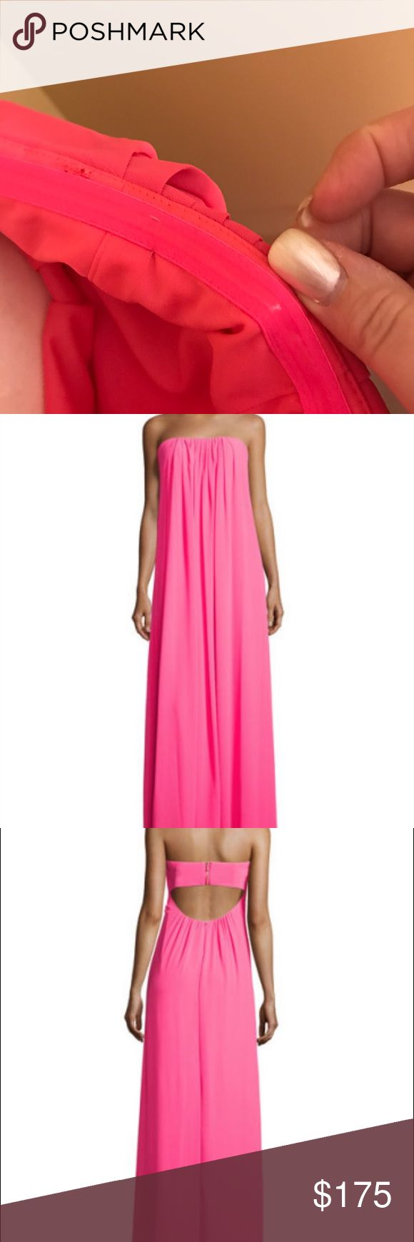 Nicole Miller New York chiffon strapless gown This new without tags chiffon hot pink gown is super sexy. Great for a cruise, the islands, or just going out on the town. Nicole Miller Dresses Maxi