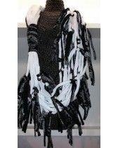 Myrjo handgemaakte ketting zwart /wit nr 113