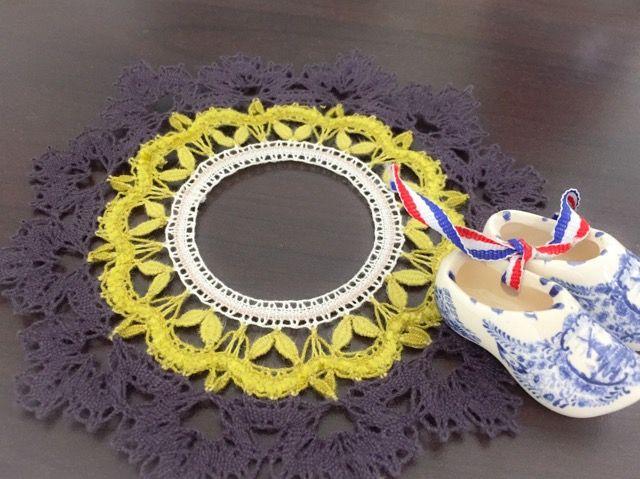 嬉しい日本のsakkoさんからのクライカ頼り。葉っぱまで!きれいに編めましたね。072_21070904