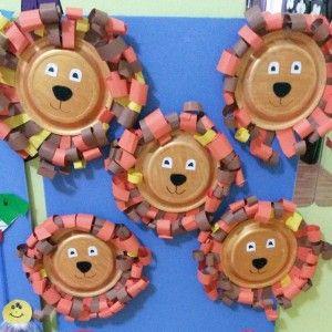 paper plate lion craft  (3)