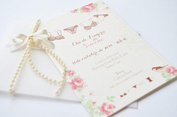 10 convites de chá de lingerie - Constance Zahn | Casamentos