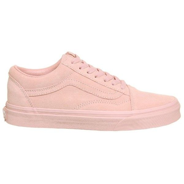 Old Skool Trainers by Vans ($79) ❤ liked on Polyvore featuring shoes, sneakers, pink, laced up shoes, pink shoes, pink sneakers, lacing sneakers and laced shoes