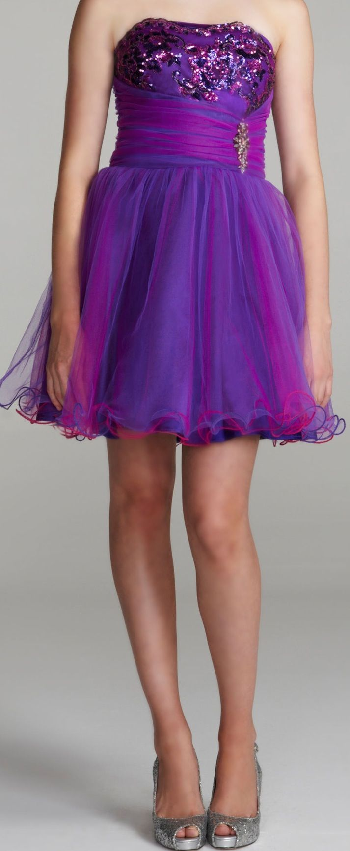Short purple dress