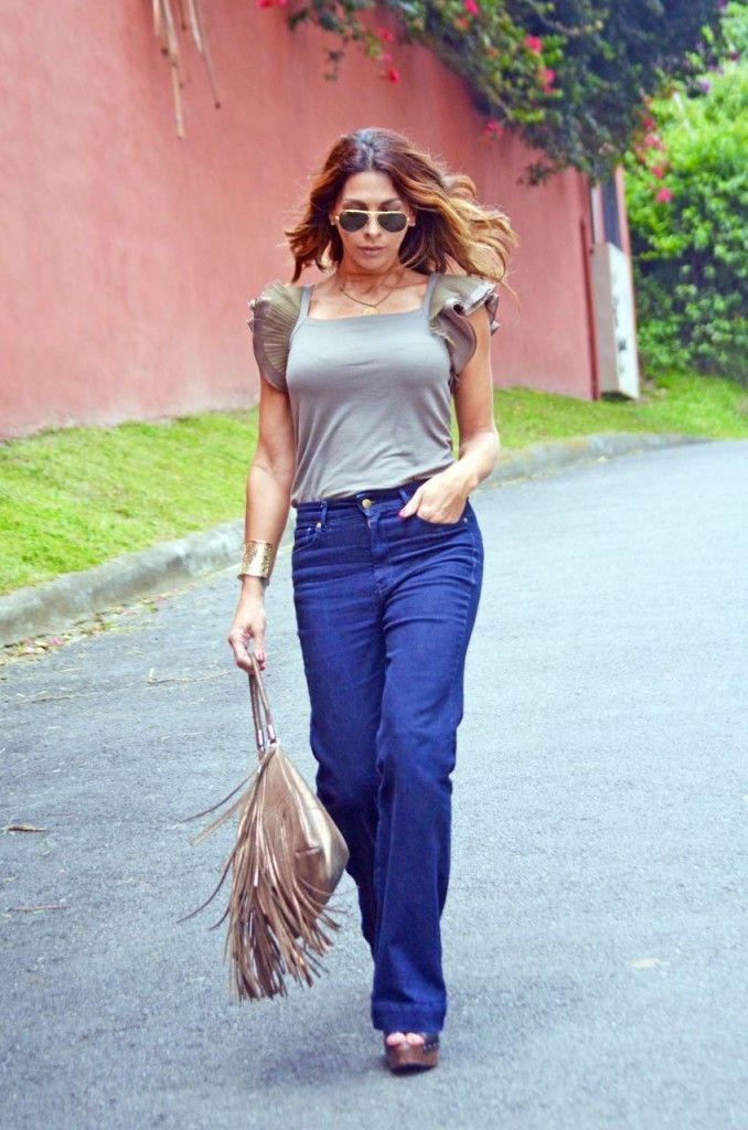 Simple and Basic Outfit, Flared Denim and Ruffles The_Market_Girl_BCBG_MaxAzria_Mango_Prune_Paruolo_ruffles_flaredjeans