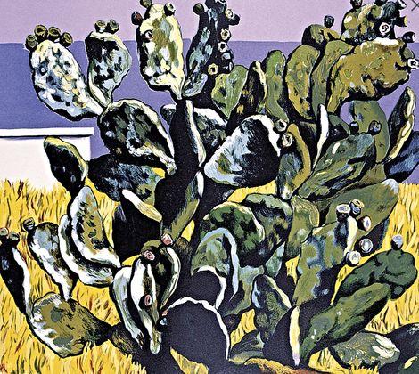 Renato Guttuso, Cactus sul golfo di Palermo