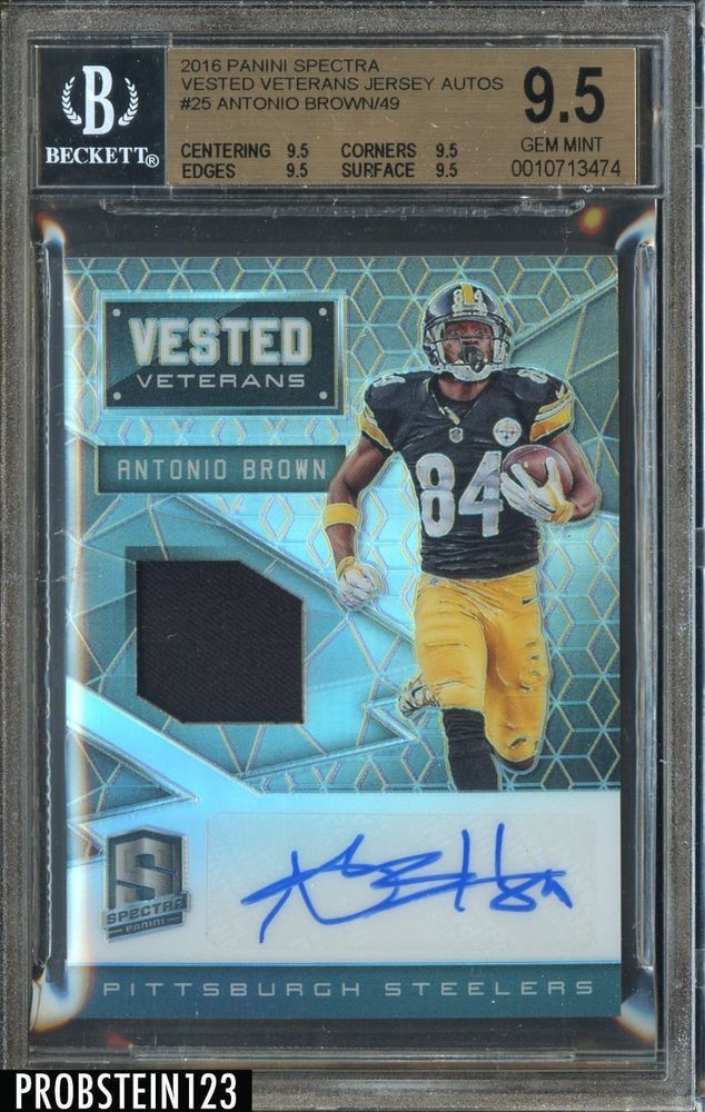 save off 09d5d 25a30 2016 Panini Spectra Vested Veterans Antonio Brown /49 AUTO ...
