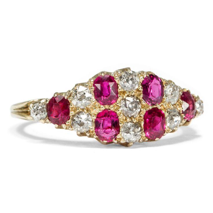 Victoria´s Secret - Viktorianischer Rubin & Diamant-Ring in Gold, Großbritannien um 1895 von Hofer Antikschmuck aus Berlin // #hoferantikschmuck #antik #schmuck #Ringe #antique #jewellery #jewelry // www.hofer-antikschmuck.de