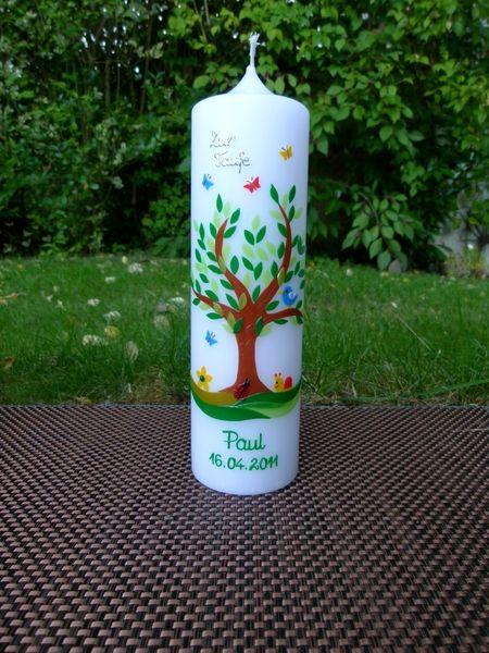 Taufkerze+Lebensbaum+von+taufkerzen-waltrop+auf+DaWanda.com