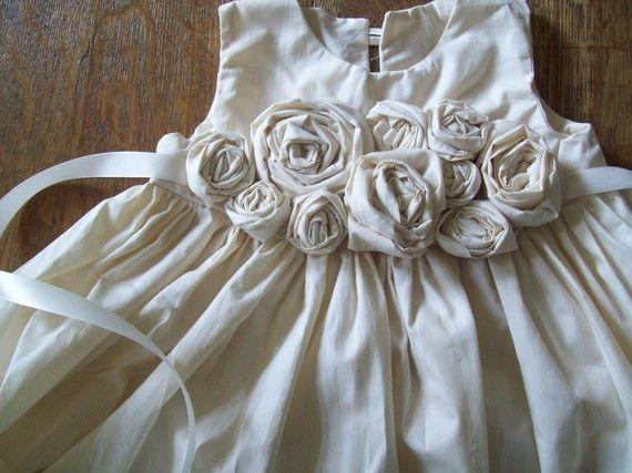 Next baby blessing dress: Flower Girls Dresses, Fabrics Flower, Blessed Dresses, Flower Dresses, Handmade Flower, Flower Girl Dresses, Baby Clothing, Little Girls Dresses, Baby Girls Dresses