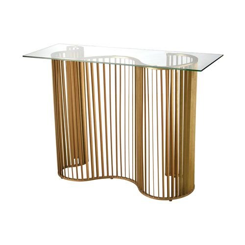 Wave Gold Leaf Console