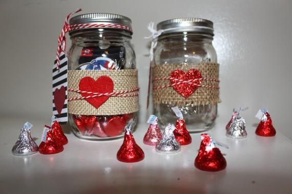 Valentines Day Mason Jars Farmhouse Valentines Mason Jar Hearts Burlap And Mason Jars Valentine Mason Jar Valentines Party Decor Valentine Craft Decorations