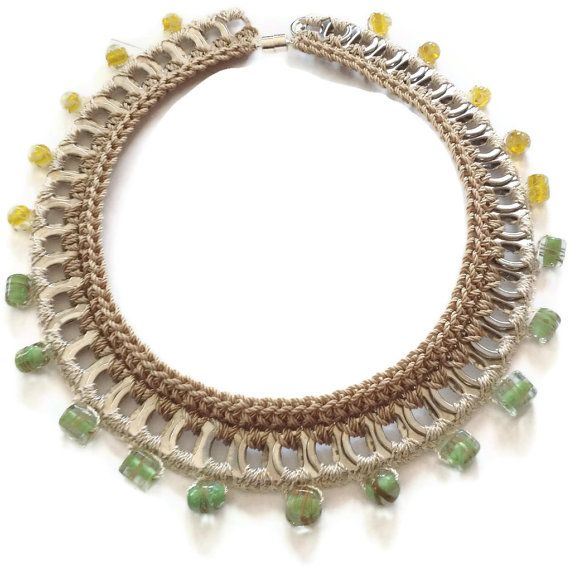 Statement Necklace  Crochet Pop Tab Choker by PopTopFashion, $30.00