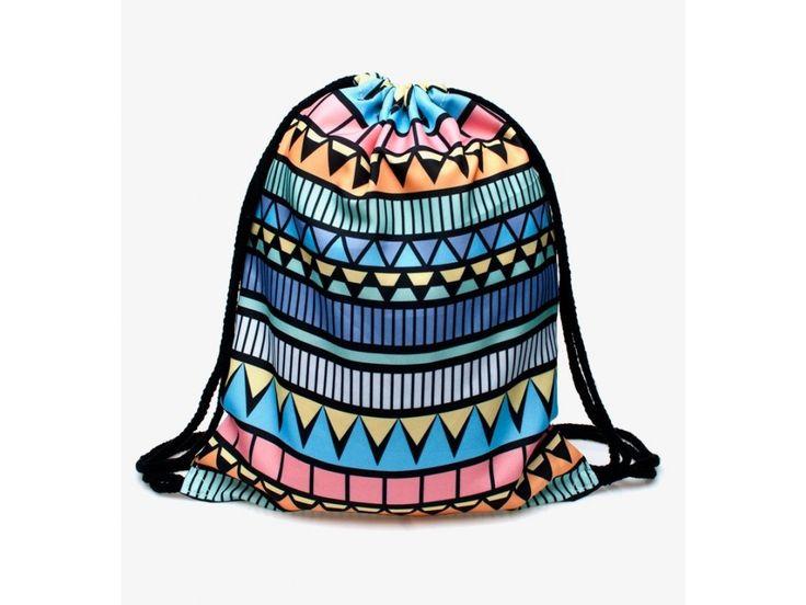 Vak na záda Gymsack s potiskem - Aztec Blue