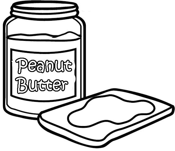 peanut butter and jelly coloring page sketch coloring page