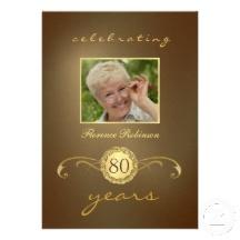 80.o Invitaciones del cumpleaños - monograma antig Comunicados Personalizados