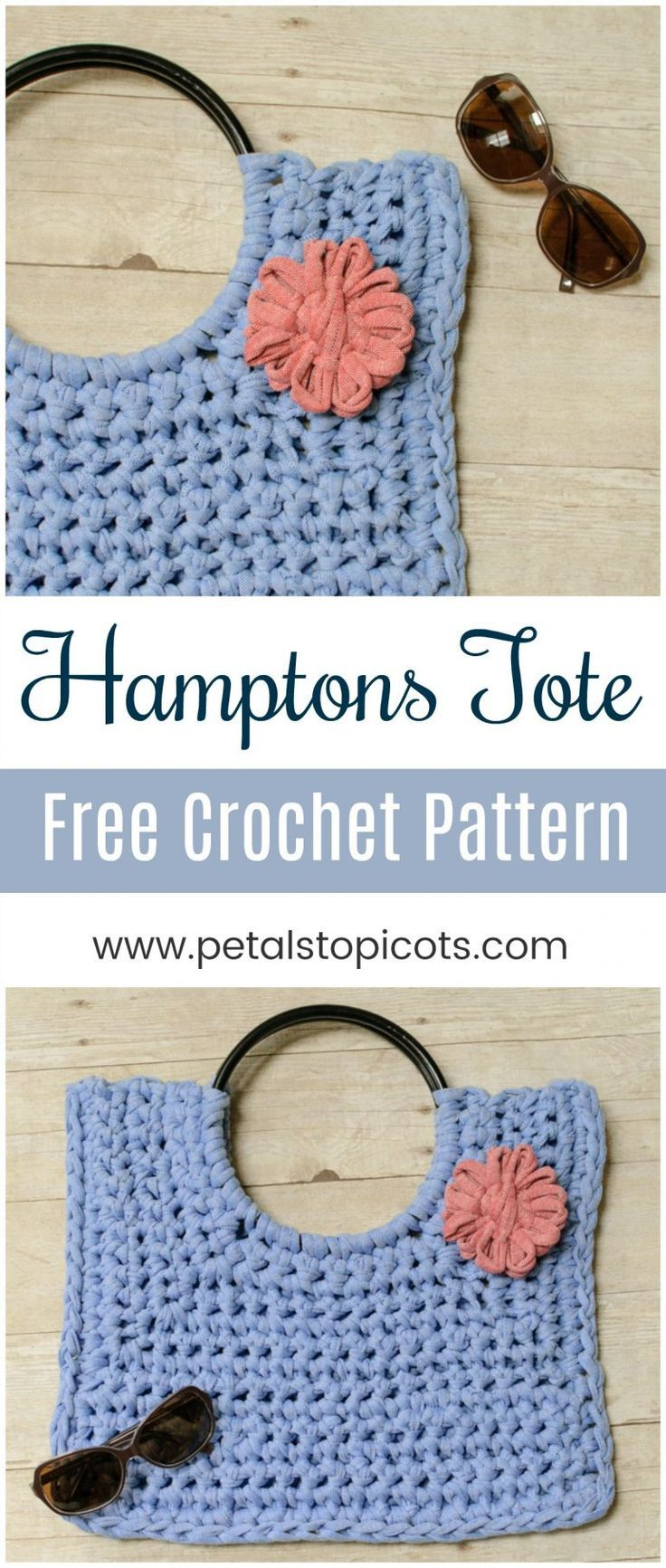 Hamptons Tote T Shirt Yarn Crochet Bag Pattern Crochetholic