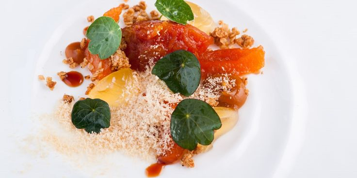 Chef Matt Worswick's sophisticated take on an indulgent foie gras parfait recipe with apricot and chamomile granola.