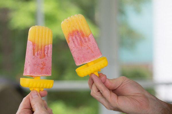 Strawberry-Pineapple Yogurt Ice Pops | Popsicles | Pinterest