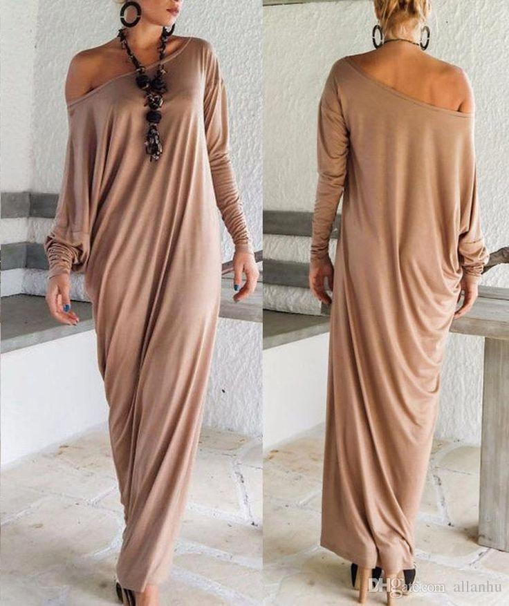 2016 Cheap Spring Autumn Women Maxi Dresses Long Sleeves Irregular Plus Size Oversize Loose Wrap Dress Ladies Vestidos Oxl15092107 Womens Evening Dresses Junior Party Dresses From Allanhu, $31.1| Dhgate.Com