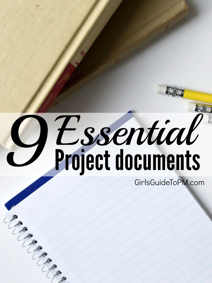 Project management can create a lot of paperwork, and it's not always the stuff you want or need. Let's talk about the essentials. Here are nine documents that no self-respecting project should be without.