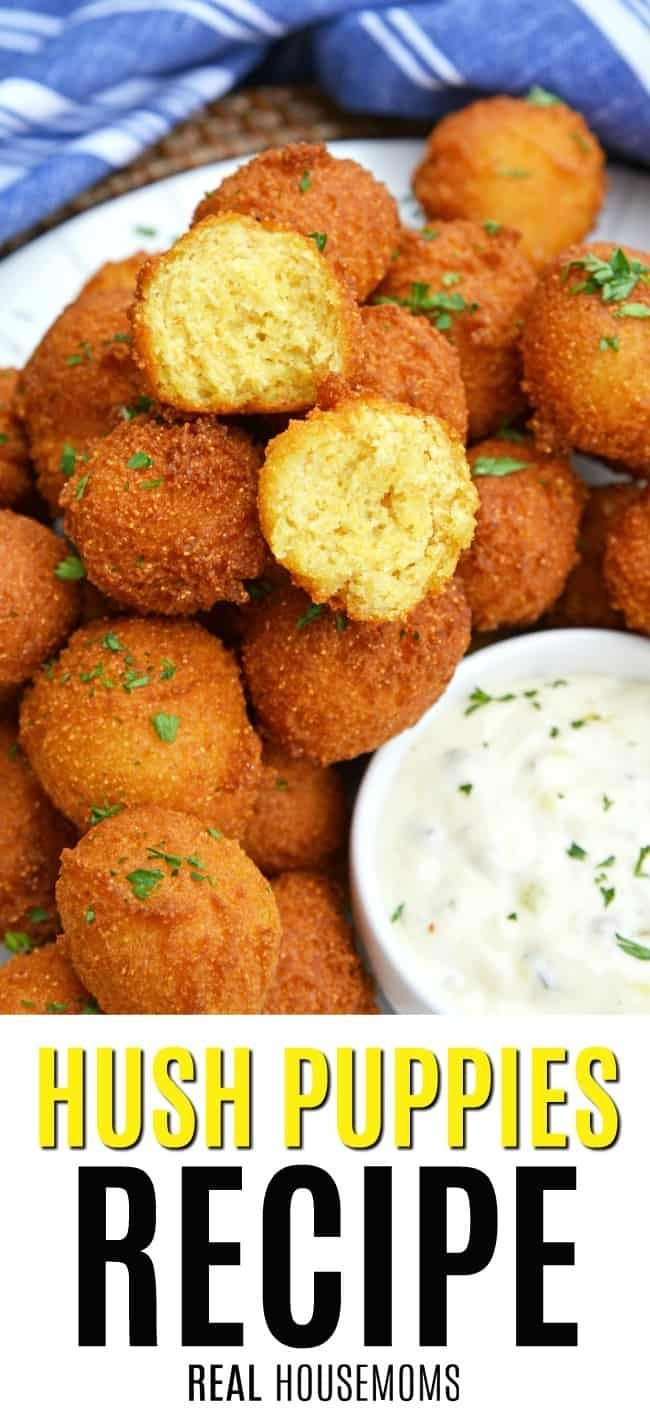 Hush Puppies Are Gently Fried Cornbread With A Crunchy Outside And Soft Doughy Inside Serve With Fish F Fish Fry Side Dishes Fried Cornbread Shrimp Side Dish