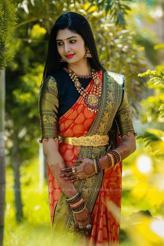 843a70f3a5 Get Inspired from thousands of photos of Latest Bridal Silk Saree Designs  for your Dream Wedding, Ezwed covers real weddings and reviews.