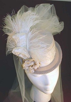 Ladies Hat - Ladies' Petite Victorian Top Hat - All-neutral Tones