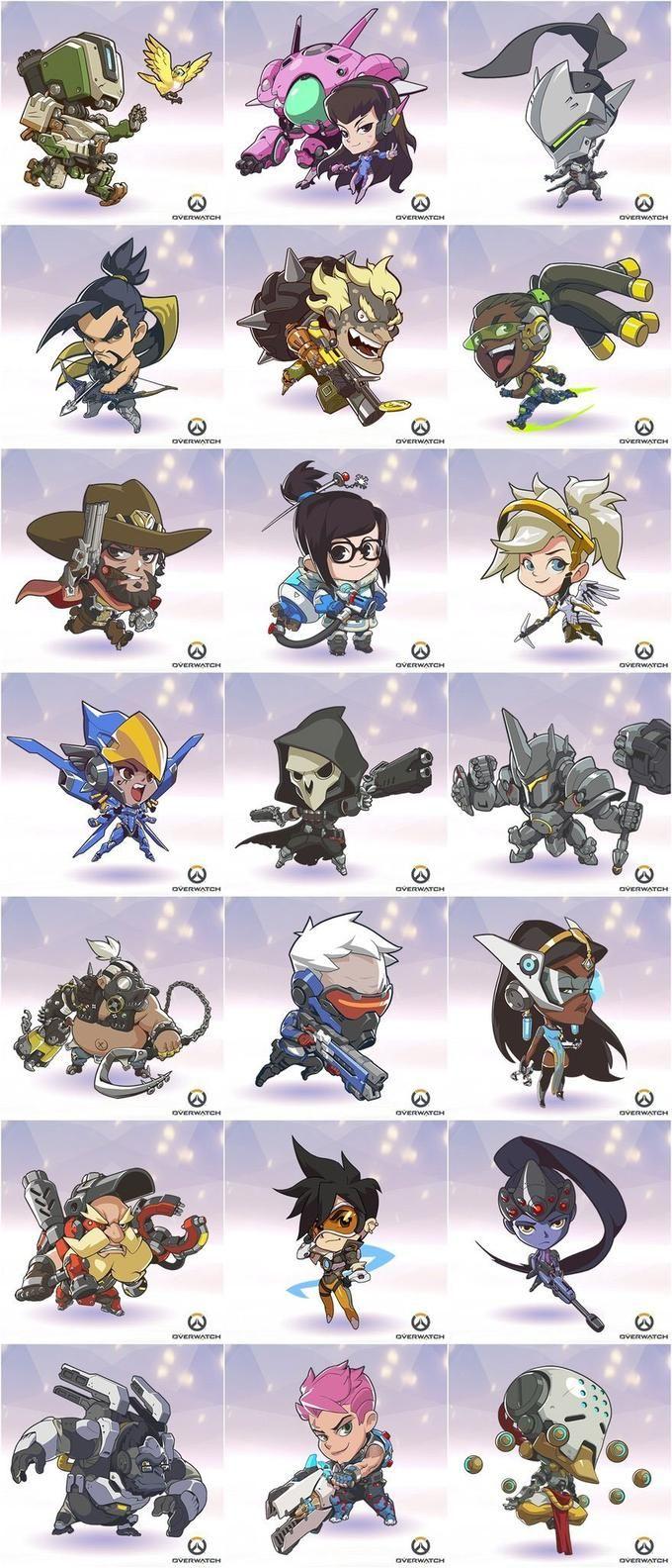 Overwatch Chibi Icons