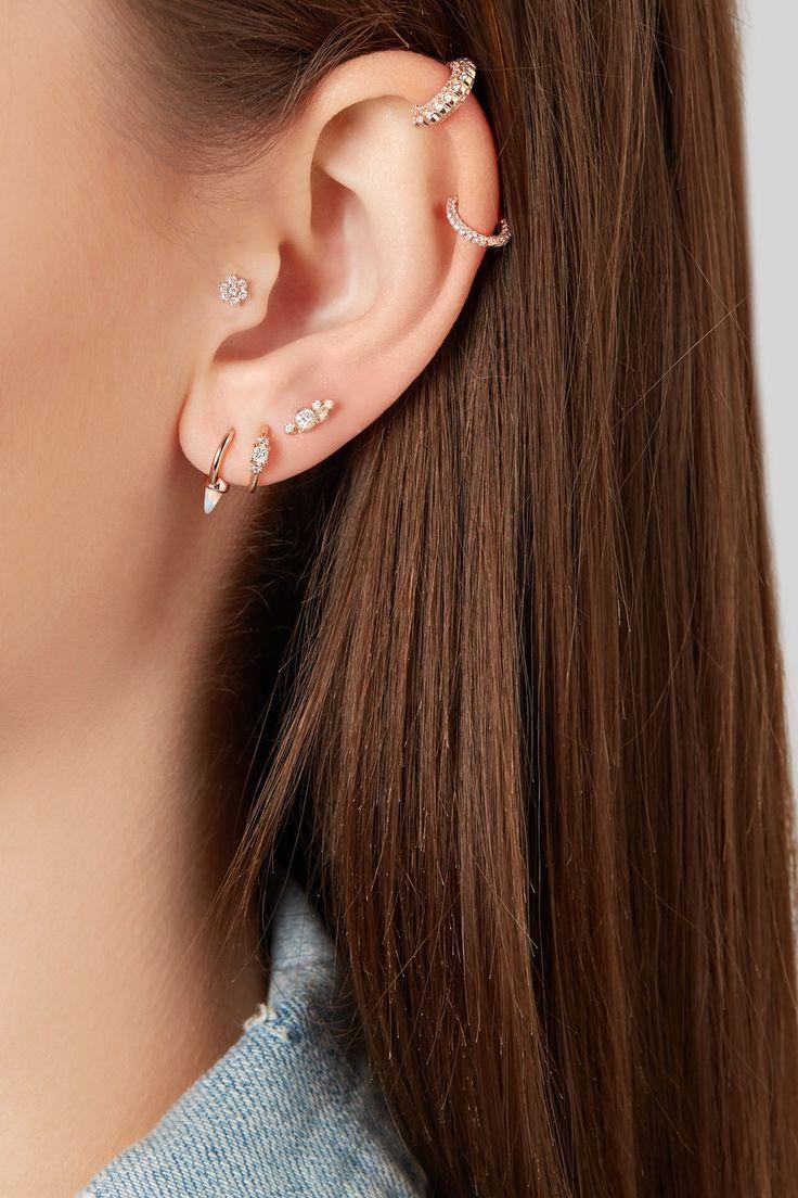 Maria Tash | 14-karat rose gold opal earring | NET-A-PORTER.COM
