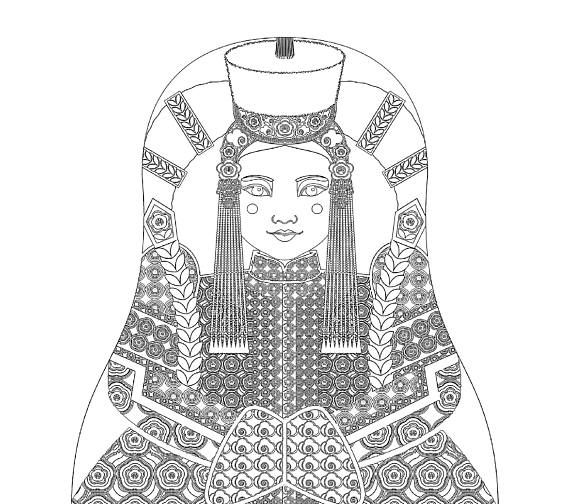 mongol book coloring pages - photo#27