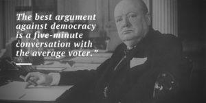 Winston Churchill Quote on Democracy
