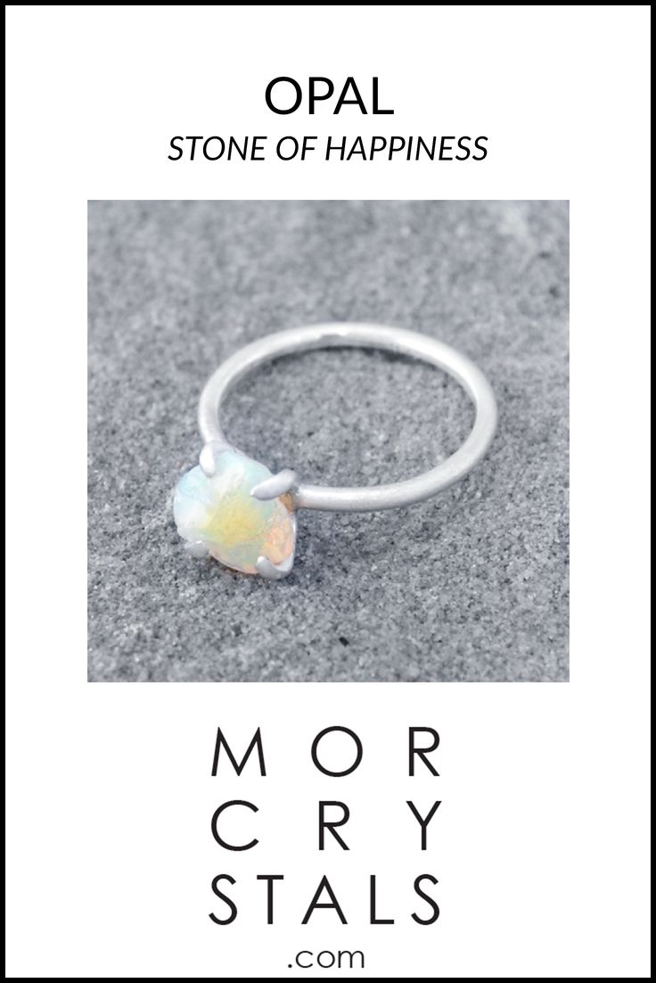 Opal - Stone of Happiness - A stone that will bring out the good side out of you and your surroundings  Raw and natural Opal piece set in to a handmade ring made with recycled 925 silver.  Check it out on morcrystals.com
