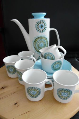 Aztec j g meakin studio England part coffee set 14 pieces in Pottery, Porcelain & Glass, Pottery, J&G Meakin | eBay