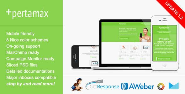 180 Absolute Best Responsive Email Templates - Mobile Friendly HTML Email Template - Pertamax