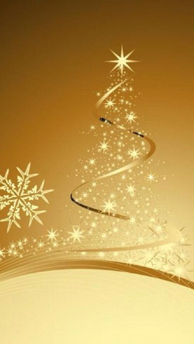 gold christmas tree wallpaper - photo #26