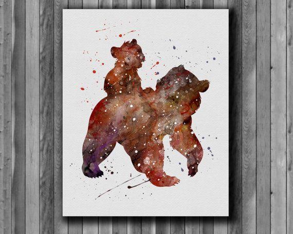 Kenai and Koda disney Brother Bear  by digitalaquamarine on Etsy