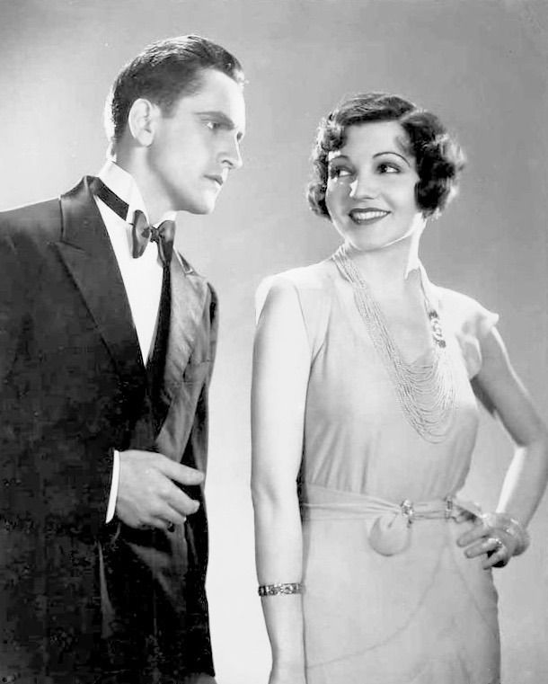 """summers-in-hollywood: """"Fredric March and Claudette Colbert in Manslaughter, 1930 """""""