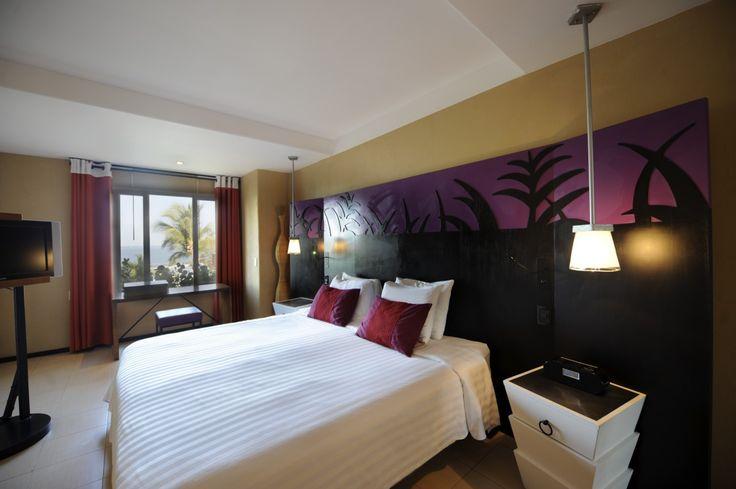 Enjoy the modern design of this room at Club Med Ixtapa (Mexico).
