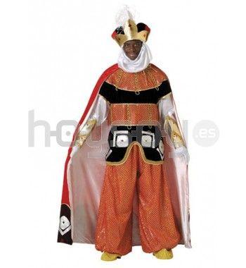 Completo y elaborado #disfraz de paje del Rey #Baltasar. Ideal para 3cabalgatas y fiestas navideñas #Navidad #Disfraces