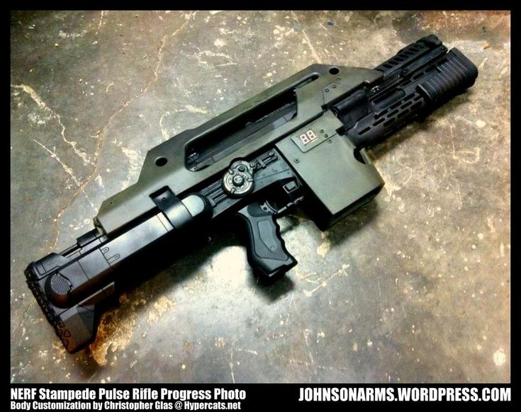 Nerf Stampede Pulse Rifle Progress by JohnsonArms on deviantART