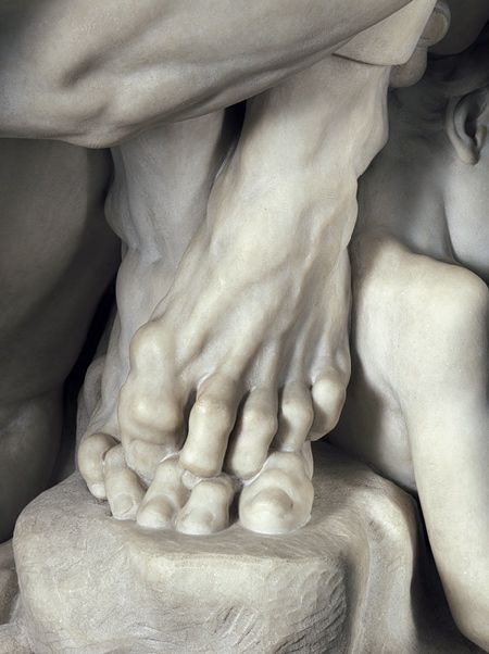 Bernini, The tension in those feet is amazing.
