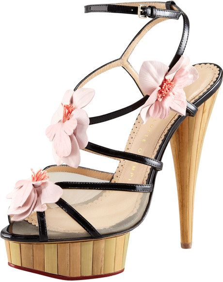 Charlotte Olympia Pink Colorblock Elastic Sneakers