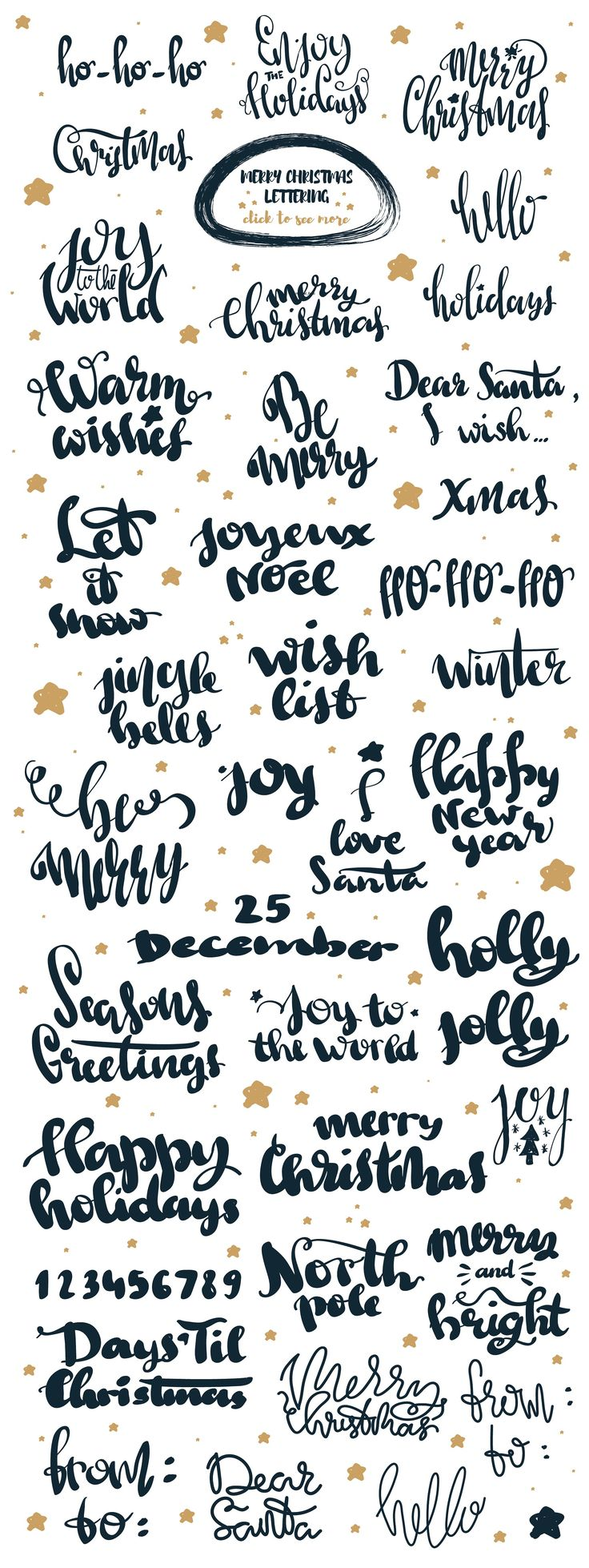 christmas words in pictures