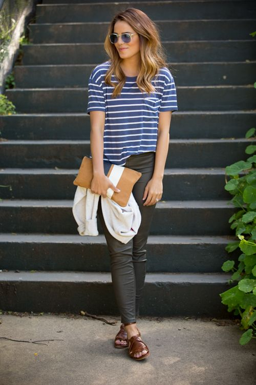 Casual Saturdays #casual #outfit #fashion #stripes