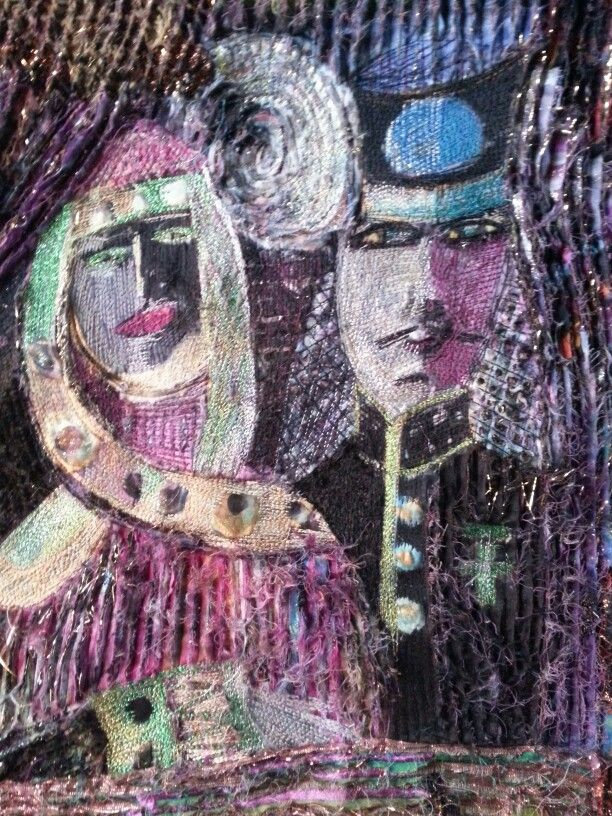 Embroidery and slashing by Beata Jarmolowska