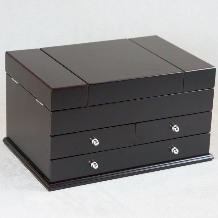 Modern Wooden Jewelry Box Beauty Pinterest Wooden