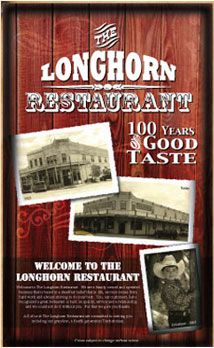 The Longhorn Restaurant - Tombstone, Arizona. Tombstone, AZ (Est. 1881) In what might be the best Halloween restaurant ever, this historic Tombstone eatery now serves up a varied menu of steaks, potatoes, burgers, and bar food as well as Mexican standards in a building once known as The Bucket of Blood Saloon. Which is creepy enough, until you realize Virgil Earp, was shot on the second floor.